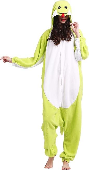 Kigurumi Pijama Animal Entero Unisex para Adultos con Capucha Cosplay Pyjamas Serpiente Ropa de Dormir Traje de Disfraz para Festival de Carnaval ...