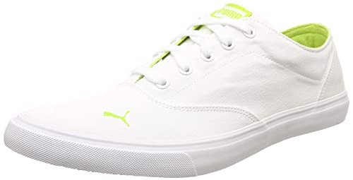 744f6ef32fd Puma Men s Icon IDP White-Acid Lime Sneakers-9 UK India (43 EU ...