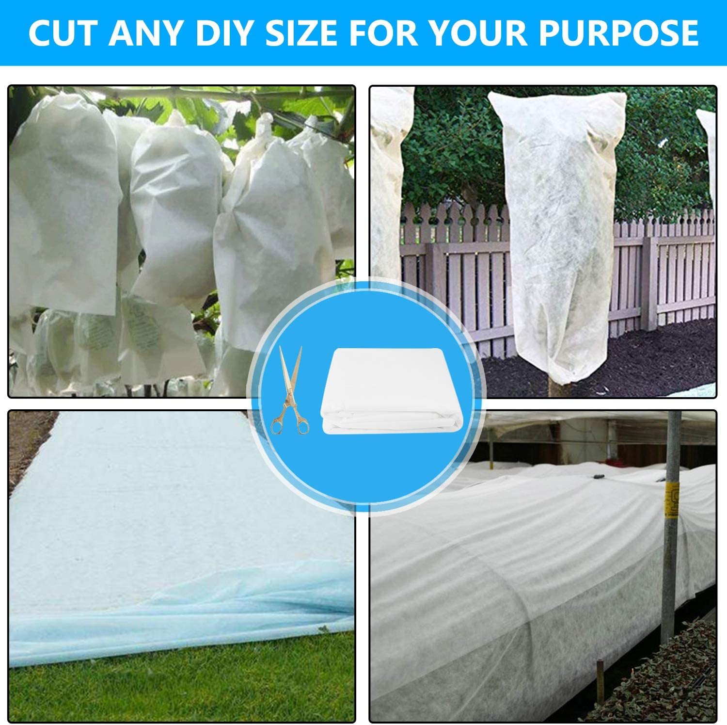 Non-Woven Fabric Frost Protection Plant Blanket for Cold Weather Protection /& Season Extension-White ANGELIOX Plant Covers Freeze Protection-10Ft x 33Ft Floating Row Cover