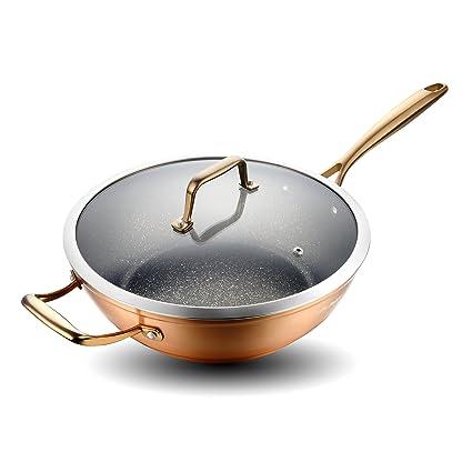 Nonstick flat bottom wok