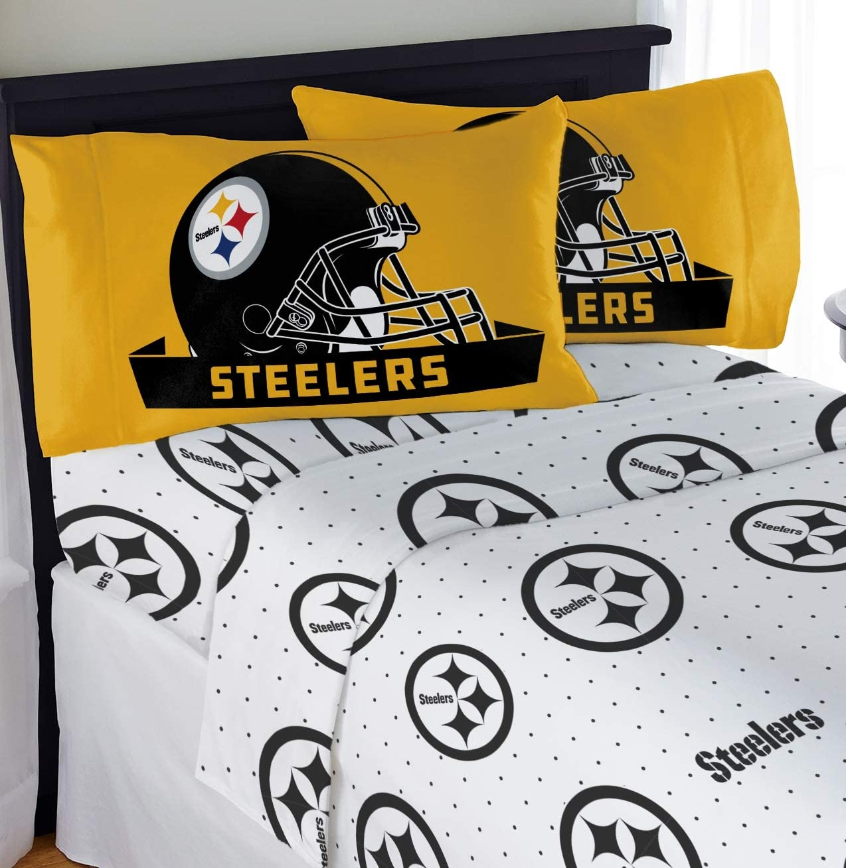 "Northwest NFL Pittsburgh Steelers ""Monument"" Full Sheet Set #242686799"