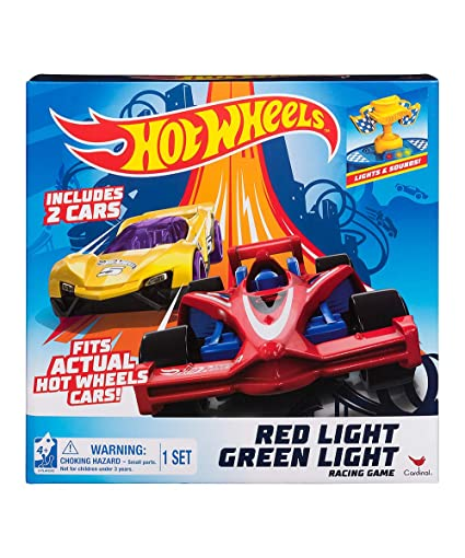 Red Car Game >> Hot Wheels Red Light Green Light Action Racing Game Includes 2 Cars