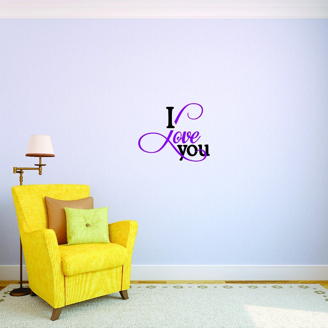 Design with Vinyl JER 1734 3 Hot New Decals I Love You Wall Art Size x 18 Inches Color Multi 18 x 18