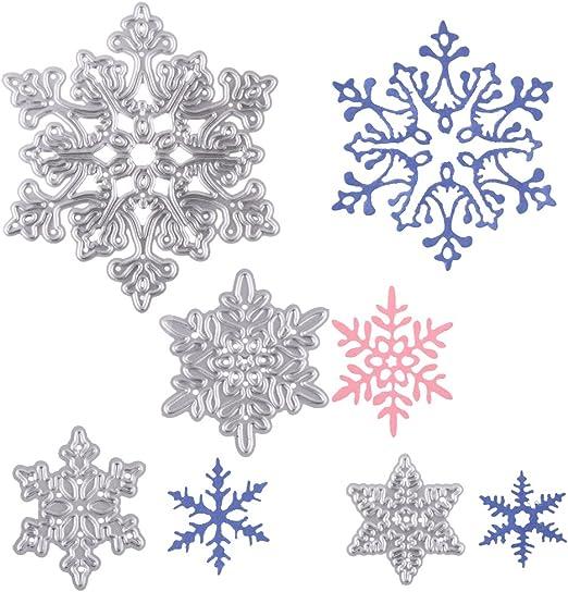 CAOREN Metal Cutting Dies Stencil Hollow Snowflake Metal Cutting Dies Stencil Scrapbooking DIY Album Stamp Paper