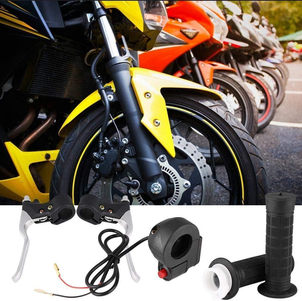 Akozon Empu/ñaduras de 7//8 Interruptor de encendido//apagado Kit de palancas de freno del acelerador para Pocket Bike Mini Motorcycle y manillar de 22 mm