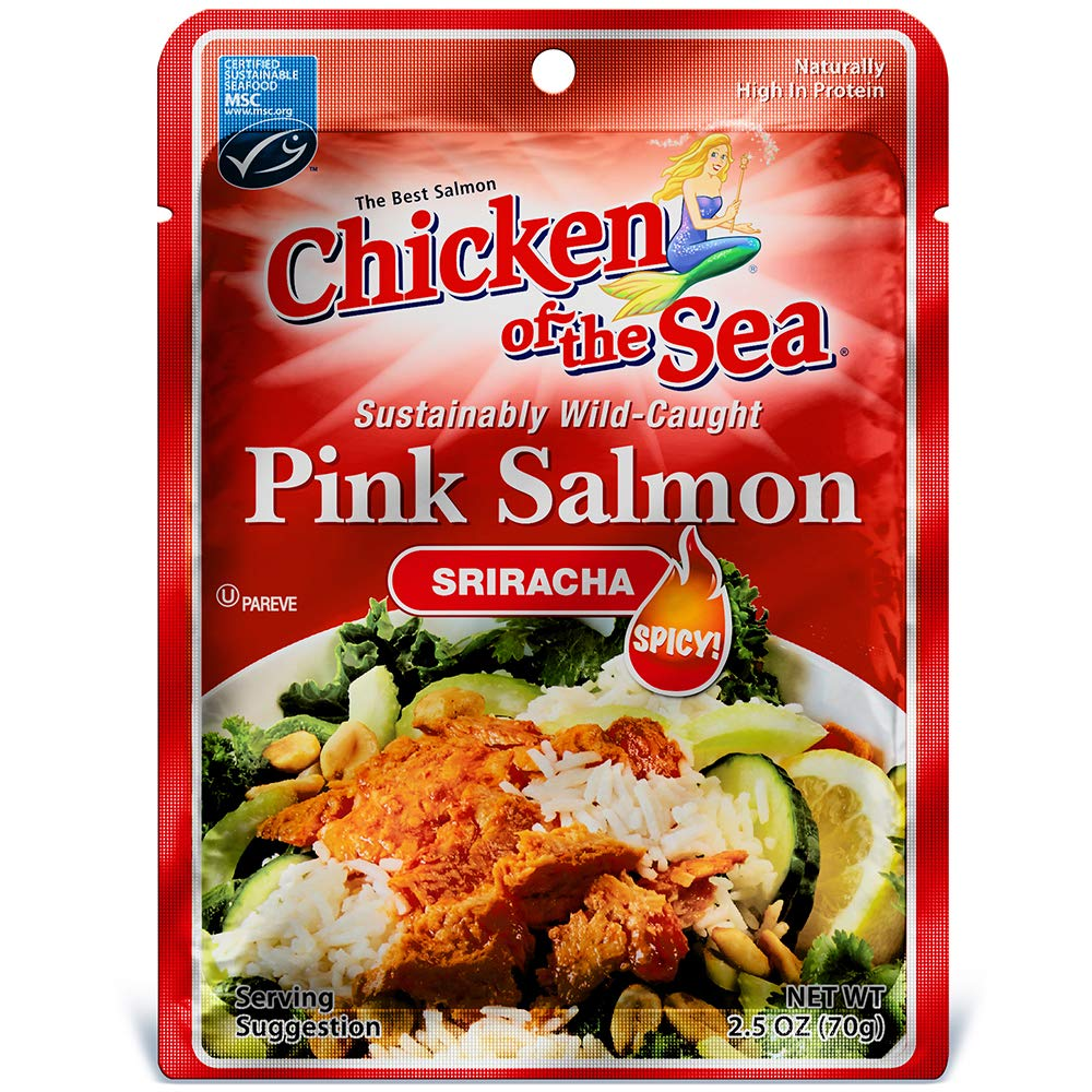 Chicken of the Sea Pink Salmon, Sweet & Spicy, 2 5 Oz (Pack of 12)