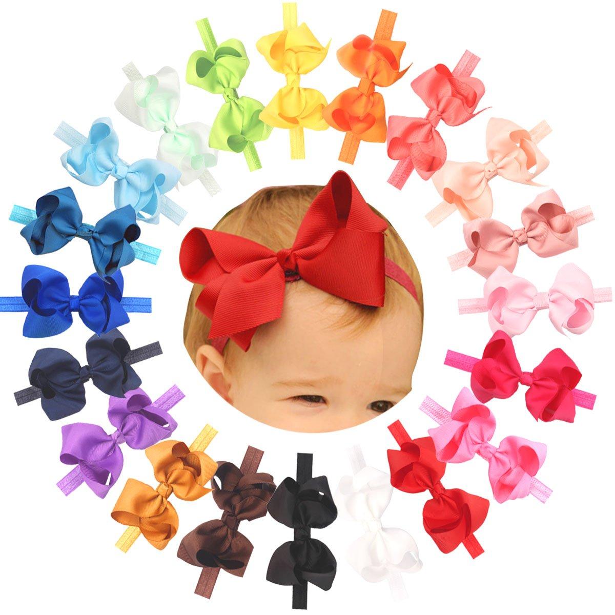 JW/_ Baby Girls Kids Gilding Big Bow Hairband Headband Stretch Head Wrap Charm