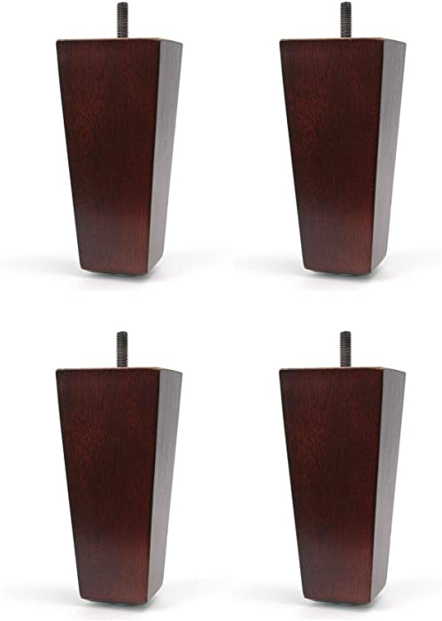 """5"""" Furniture Wood Tapered Leg Walnut Finish - Set of 4 Legs"""
