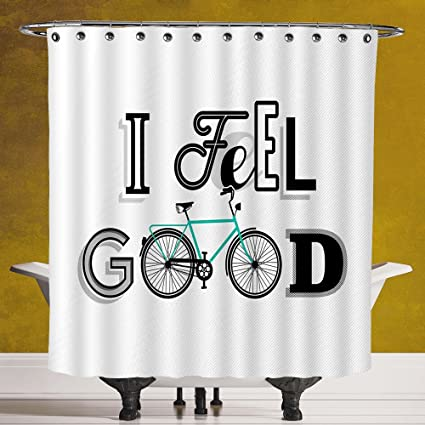 Funky Shower Curtain 30 By SCOCICI Vintage DecorMotivation Quote With Old Bicycle Exercise