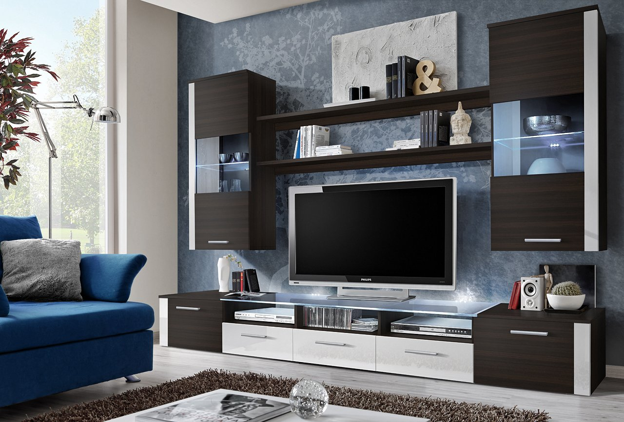 BMF FRESH   TV CABINETS/TV STANDS/WALL UNIT/MODERN FURNITURE/HIGH  GLOSS/Available In 5 Colours (SONOMA/GREY): Amazon.co.uk: Kitchen U0026 Home