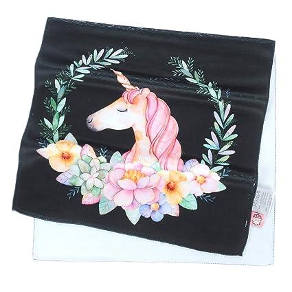 Colias Wing Cute Unicorn&Flowers Pattern Stylish Design Super Soft Bamboo Microfiber Bathroom Towels Bath Fitness Towel
