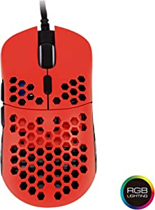 HK Gaming Mira M Ultra Lightweight Honeycomb Shell Wired Gaming Mouse - 6 Buttons - 2.1 oz (63 g) (Up to 12000 cpi, Monza)