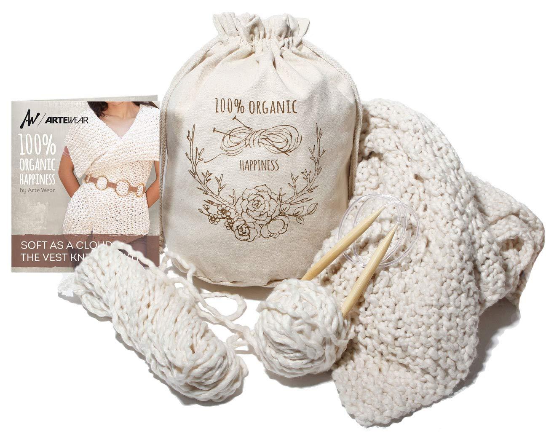ARTE WEAR DIY Vest Knitting KIT by ARTE WEAR (Image #1)