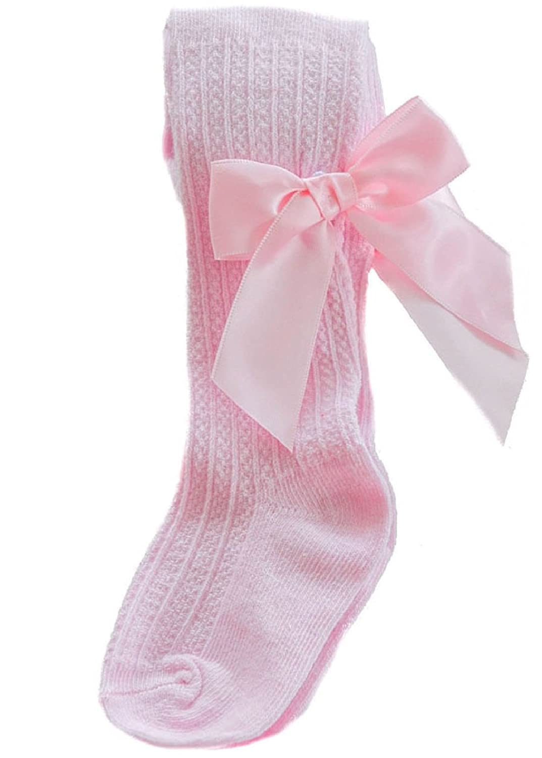 Baby Girl Tights Bow Ribbed Spanish Romany Christening Babies Christmas T42