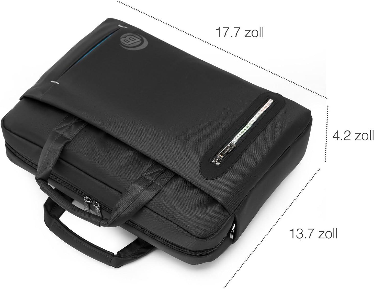 Srotek 15,6 Zoll Laptoptasche Schultertaschen Wasserdicht Notebooktasche Business Aktentasche Umh/ängetasche f/ür Laptop /& Notebook Herren Damen,Grau