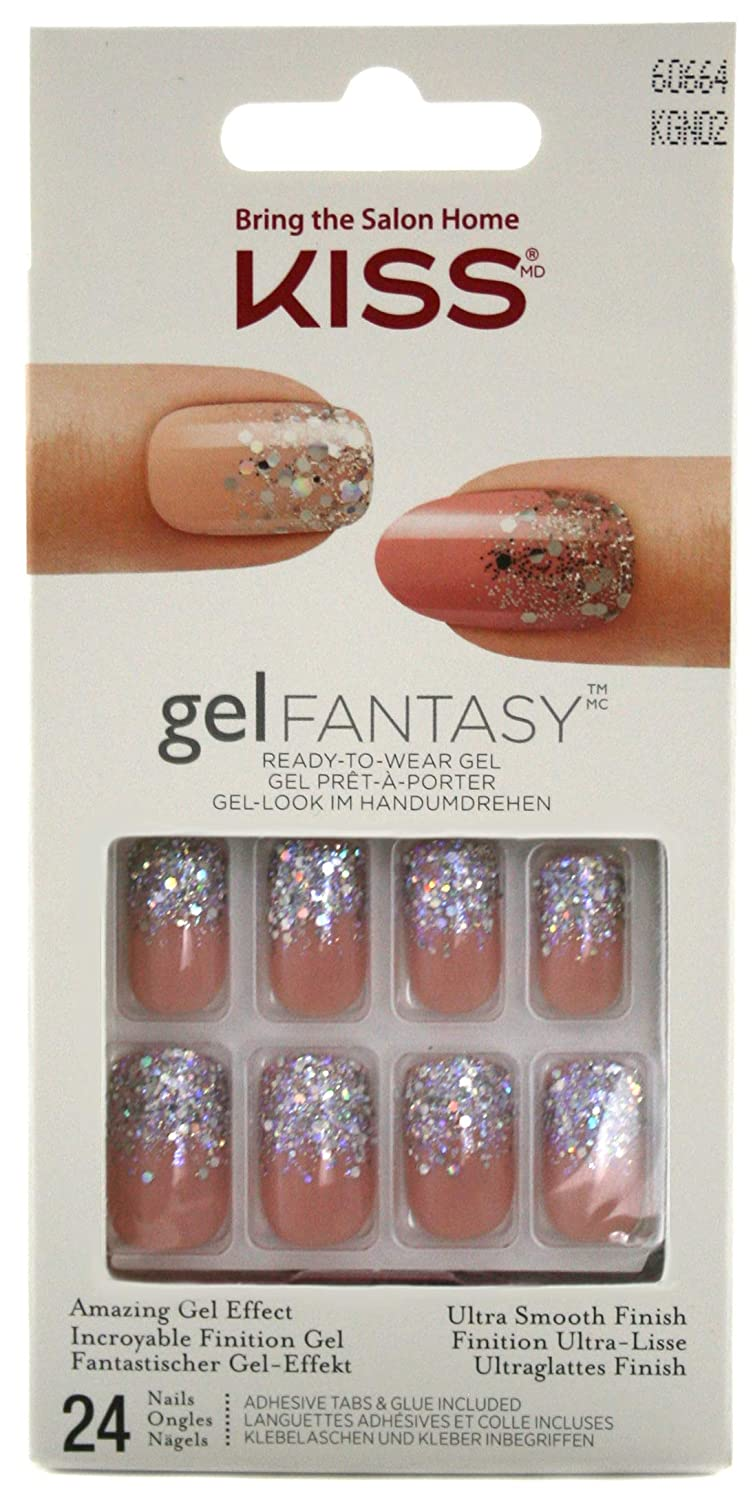 Kiss Gel Fantasy Nails-Rock Candy, 1-Count KGN02GT-2