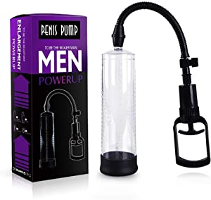 Held Enlarger Pēnīs Air Pump for Man/Manual Enlargement Vacuum Device for Bēginner/Men Supplement Paint Sprayers Toys/Male Hand Extender/Strong Mens Power/Silicone/Black