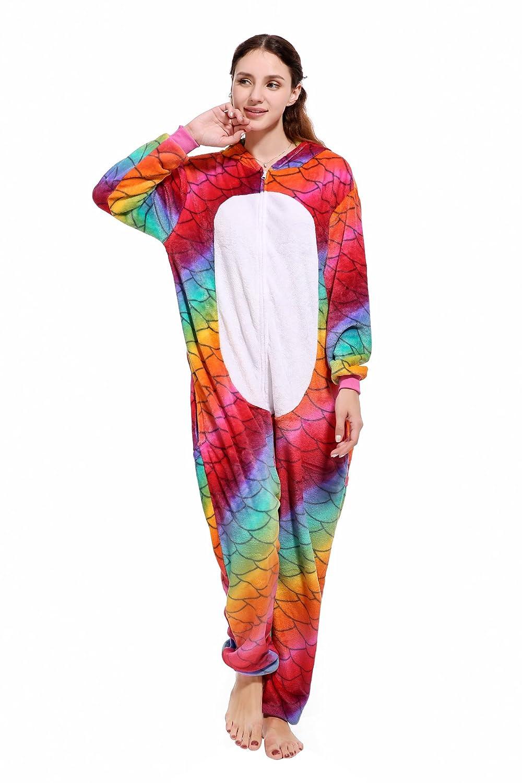 Kenmont Adulto Mujer Pijama Felpa Cosplay Ropa de Dormir Animal Disfraz Unicornio Panda Tiburón: Amazon.es: Ropa y accesorios