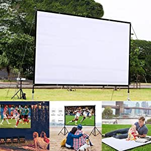 isopeen 60 Inch 4:3 HD Projector Screen Foldable Anti-Crease Light Resistant Projector Movie Screen Video Projection Screen
