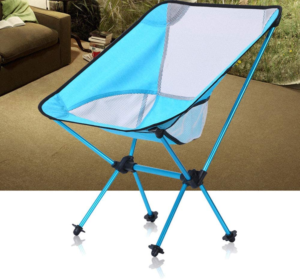 E-kinds Ultra-Light Folding Camping Chair, Portable And Compact, Camping Folding Chair Outdoor Portable Aviation Aluminum Alloy Fishing Ultra-Light,Red Purple
