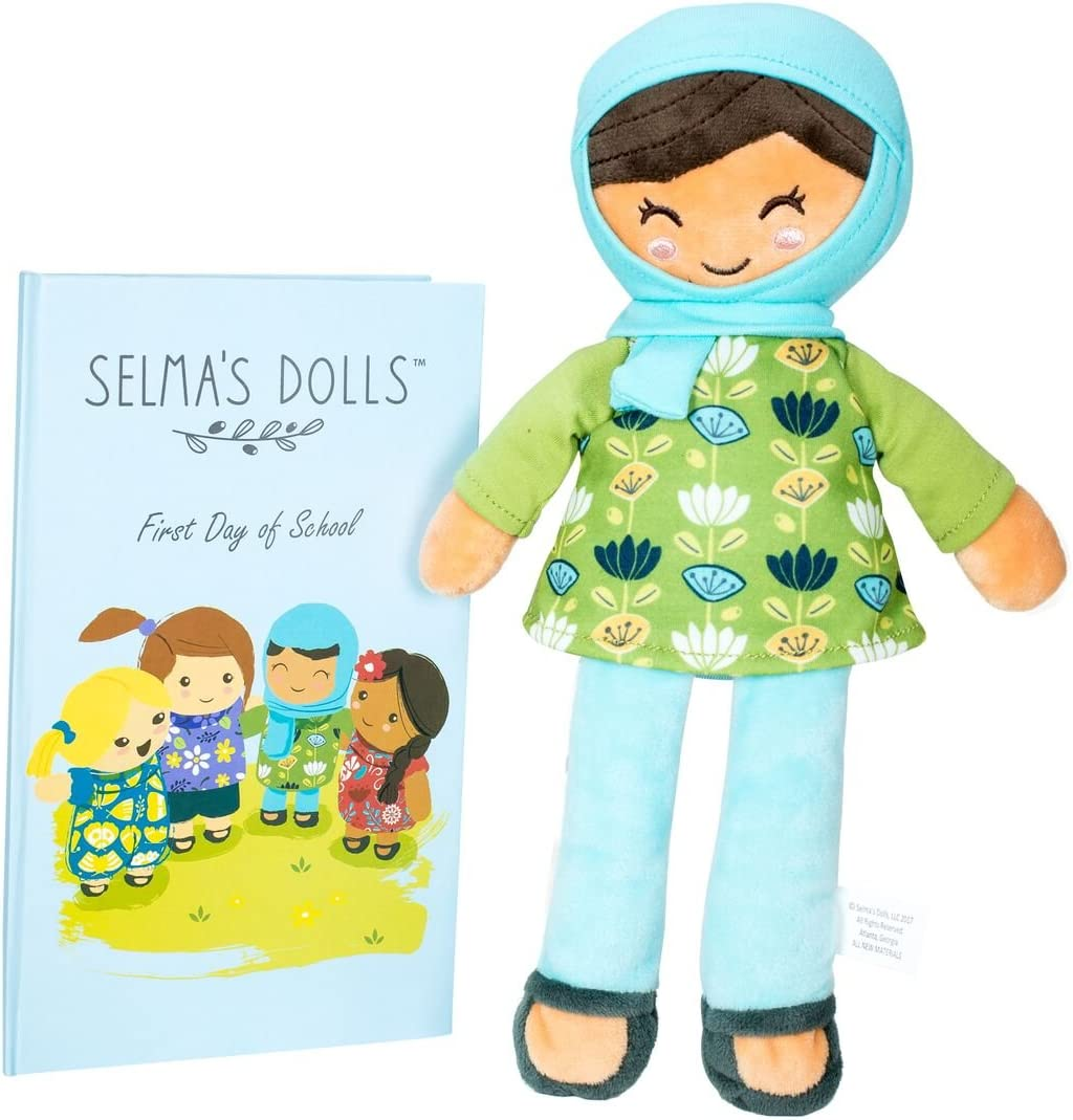 """Selma's Dolls The Ameena Doll - Soft 12"""" Muslim Baby Doll with Children's Storybook"""