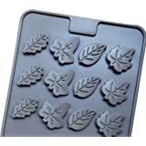 Mini Skater 2 PSC 24-Cavity Leaf Shape Silicone Mold for Making Soap, Candle, Candy, Chocolate, and More (Leaf Shape…