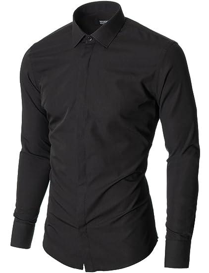 597f48c467e9d MODERNO - Mens Shirts - Dress Shirt - Formal Shirt - Slim Fit - Long Sleeve