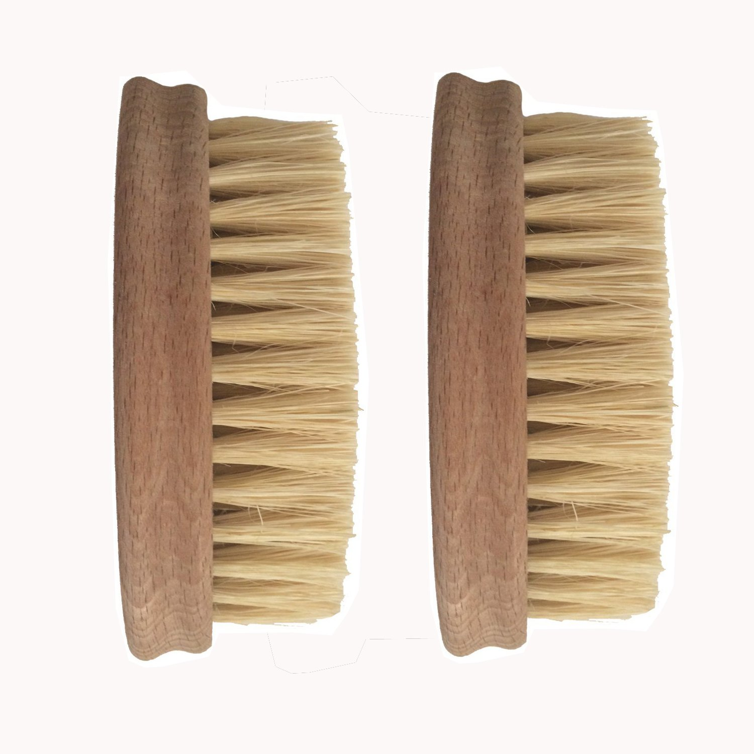 Vegetable Brush - Made from All Natural Bamboo and Palm Fibers - Scrub and clean carrots, potatoes, corn, beets etc. (Double Pack)