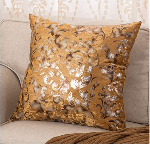 European Style Floral Printed Cushion Cover Ice Velvet Pillowcase Home Decor