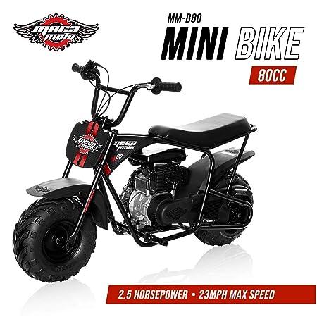 Mega Moto Gas Mini Bike 80CC/2.5HP without Suspension (MM-B80-BR)(Black)