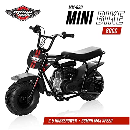 Amazon Mega Moto Gas Mini Bike 80CC 25HP Without Suspension MM B80 BRBlack Automotive