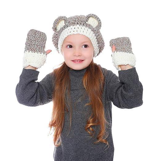 Yishelle 4-8Y Niños Niñas Niños Sombrero Patrón de Tejer con ...