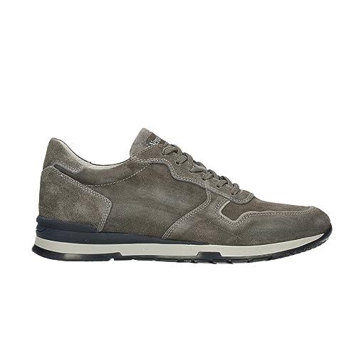 Nero Giardini p800221u blu sneakers uomo bassa lacci pelle