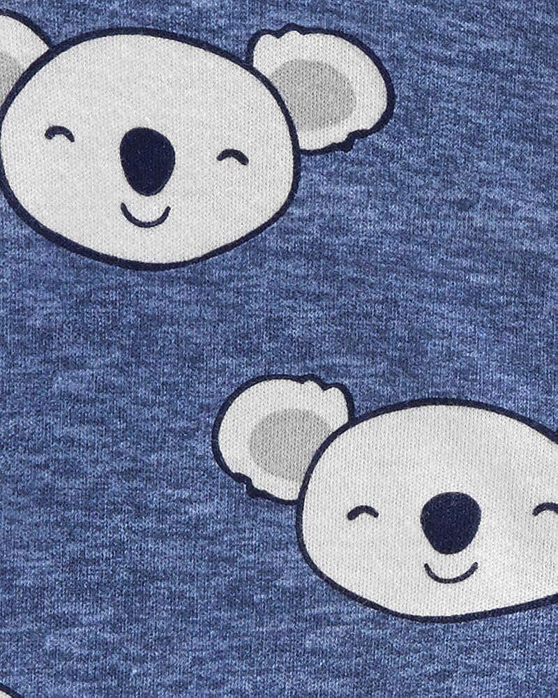 Carters Baby Boys Koala 2-Way Zipper Footed Coverall