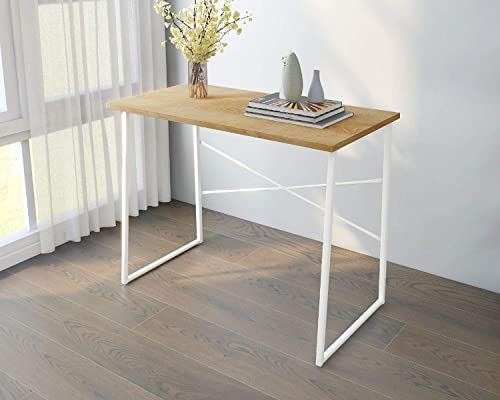 Cheap Computer Desk Office Folding Table Modern Simple Work Study Desk Industrial Style PC Laptop Table home office desk for sale