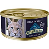 Blue Buffalo Wilderness High Protein Grain Free, Natural Mature Dry Cat Food and Wet Cat Food, Chicken