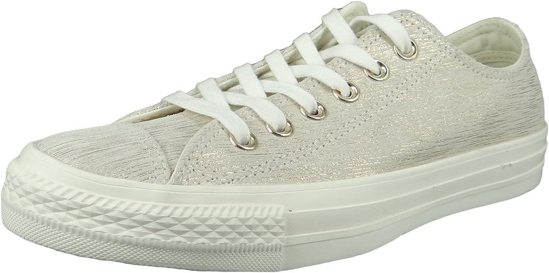 Converse CTAS Ox Egret/Metallic, Chaussures de Fitness Femme ...