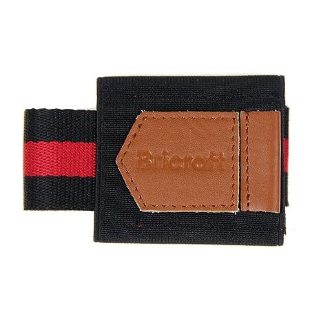 Bricraft Hombres Delgado Cartera Elástica Tarjeta Titular Cuero Bolsillo Delantero Cartera De Bolsillo Rojo Y Negro