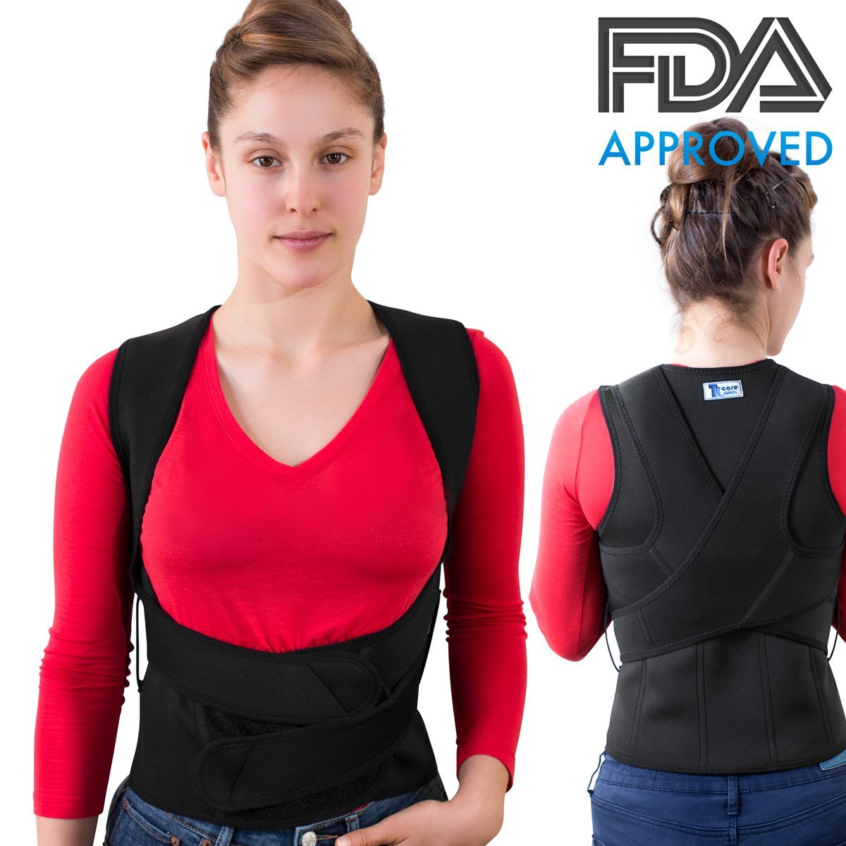 THE ULTIMATE Posture Corrector for Women & Men Under Clothes   Effective & Comfortable   Back Brace for Slouching & Hunching -Shoulders Clavicle Support   Upper & Lower Back Supports   Body Therapy by TK Care Pro. (Image #8)