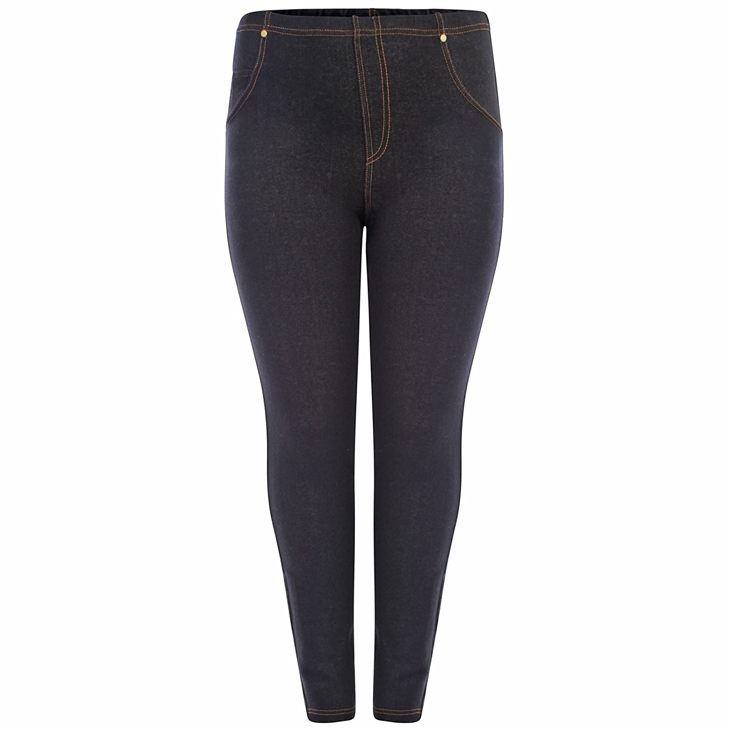 Shineboy F4S Womens Plus Size High Waisted Ladies Denim Jean Blue Black Jeggings 16-30