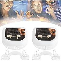Twee stuks intrekbare Halloween vampier tanden, valse tanden kostuum partij prop tanden, enge vampier tanden, gemaakt…
