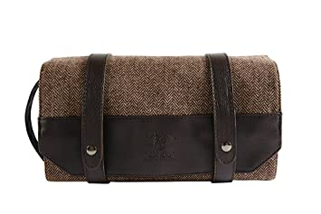 46ec729e2d Image Unavailable. Image not available for. Colour  Danielle Creations Brompton  and Langley Men s Toiletry Roll Up Hanging Travel Bag