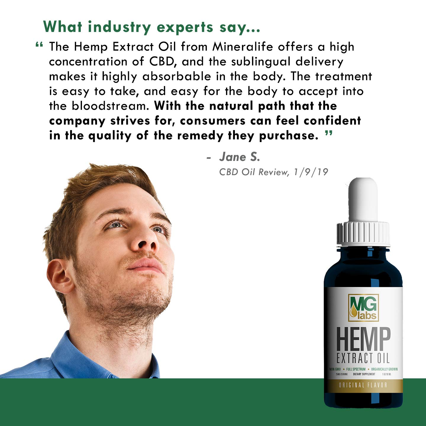 Full Spectrum MG LABS Hemp Oil 750MG | Relief for Pain, Anxiety, Stress, Inflammation | Aids Sleep & Supports Mood | 1oz Original Olive Oil Flavor