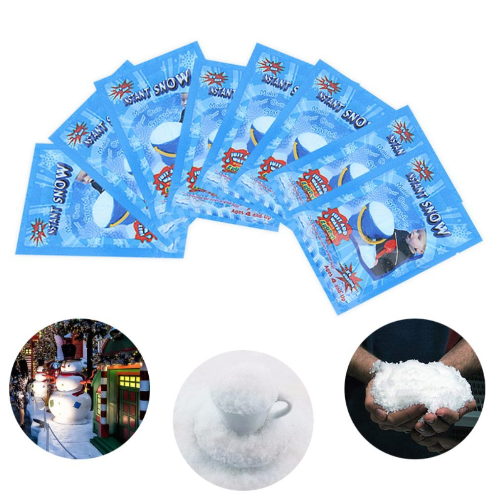 ugokarj 1pcs Instant Snow Fake Artificial Snow Magic Fluffy Fake Snow Great Decoration for Birthday Christmas Wedding-Looks and Feels Like Real Snow