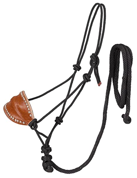 Amazon Com Tough 1 Poly Rope Halter Whorsehair Bronc Nose Lead