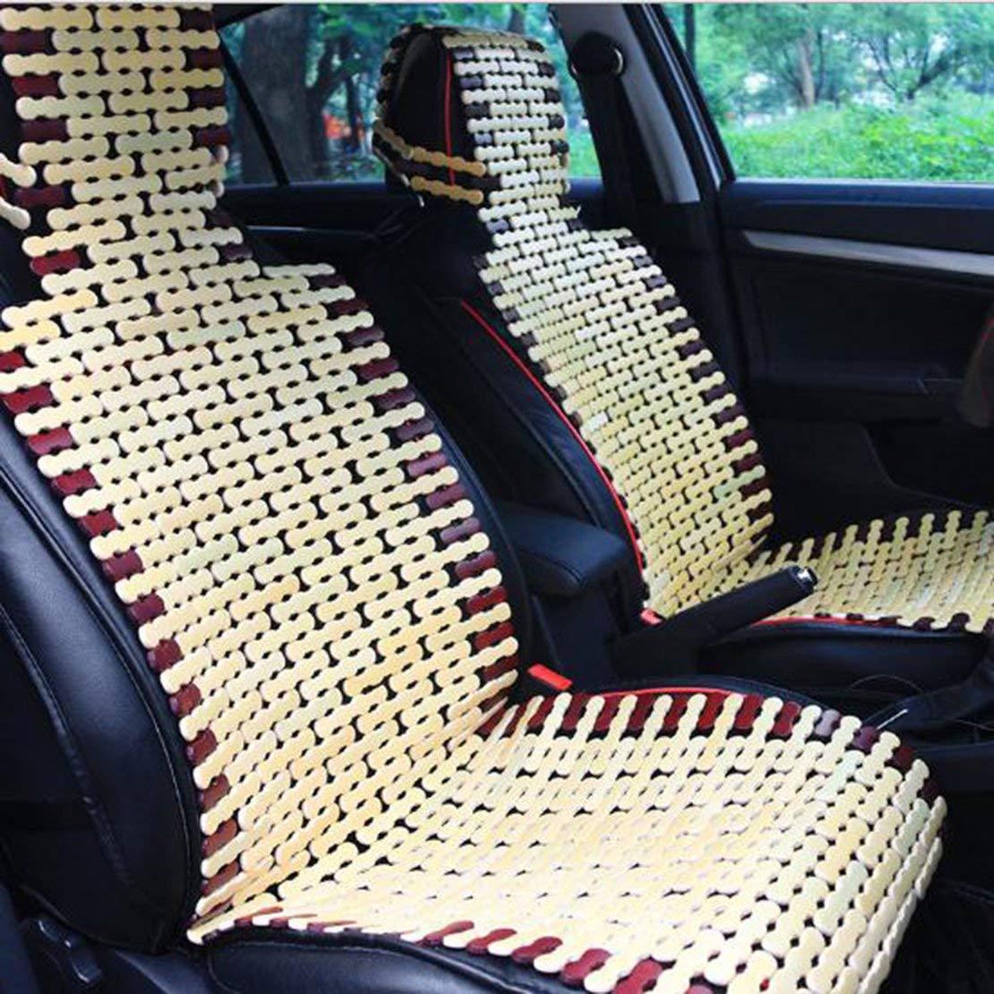 Cuscino per seggiolino auto in bamb/ù naturale Cuscino fresco estivo Imbottitura comoda per coprisedile Tappetino universale per auto colore del legno