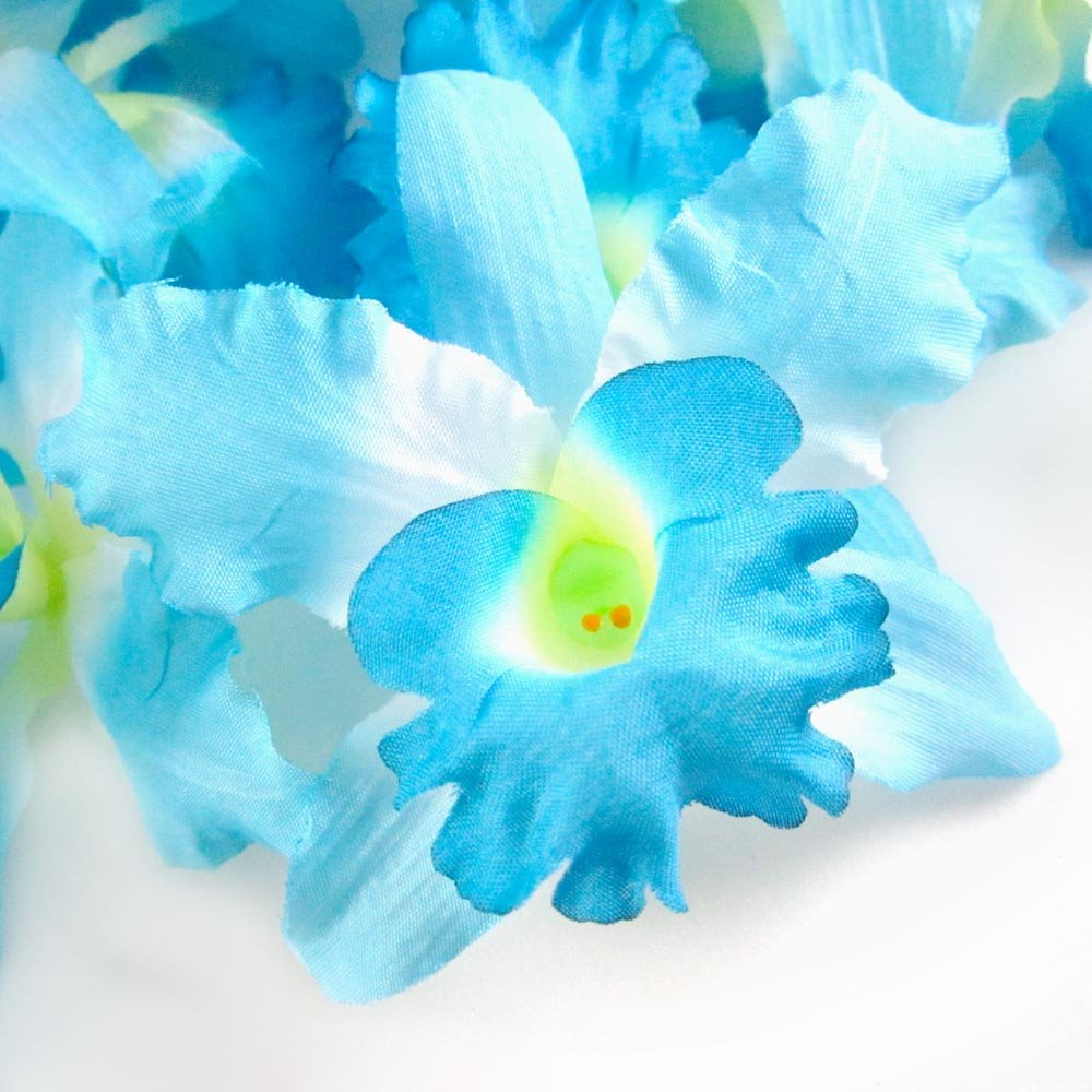 Amazon 8 blue hawaiian cattleya silk flower heads 35 amazon 8 blue hawaiian cattleya silk flower heads 35 artificial flowers heads fabric floral supplies wholesale lot for wedding flowers izmirmasajfo