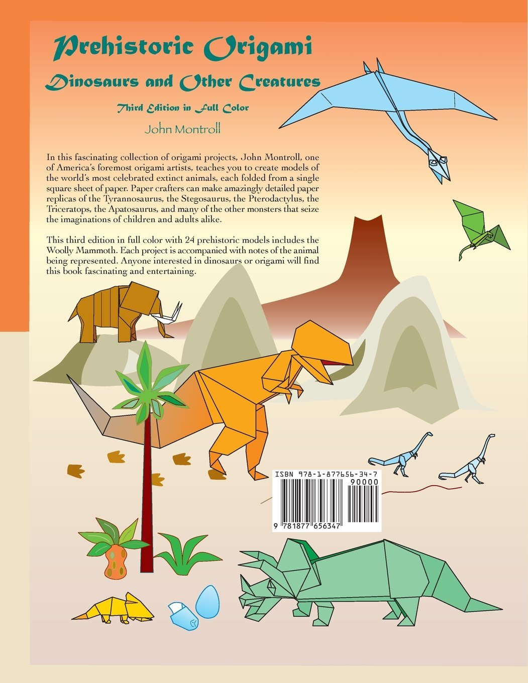 Prehistoric Origami Dinosaurs And Other Creatures John Montroll Dinosaur Diagrams 9781877656347 Books