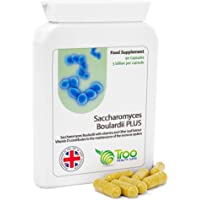 Troo Health Care Saccharomyces Boulardii - 90 Supplement Capsules – High Strength, 5 Billion cfu Organisms per Capsule | with Added Olive Leaf, Biotin and Vitamin D | UK Manufactured to GMP Standards