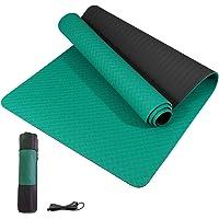 Yoga Mat antislip TPE Yoga matten voor vrouwen Mannen gym mat, Dikke Oefenmat voor Thuis Workout Mat voor Yoga, Pilates…